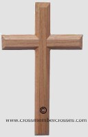 Traditional Edge Beveled Small Wooden Cross  - Oak
